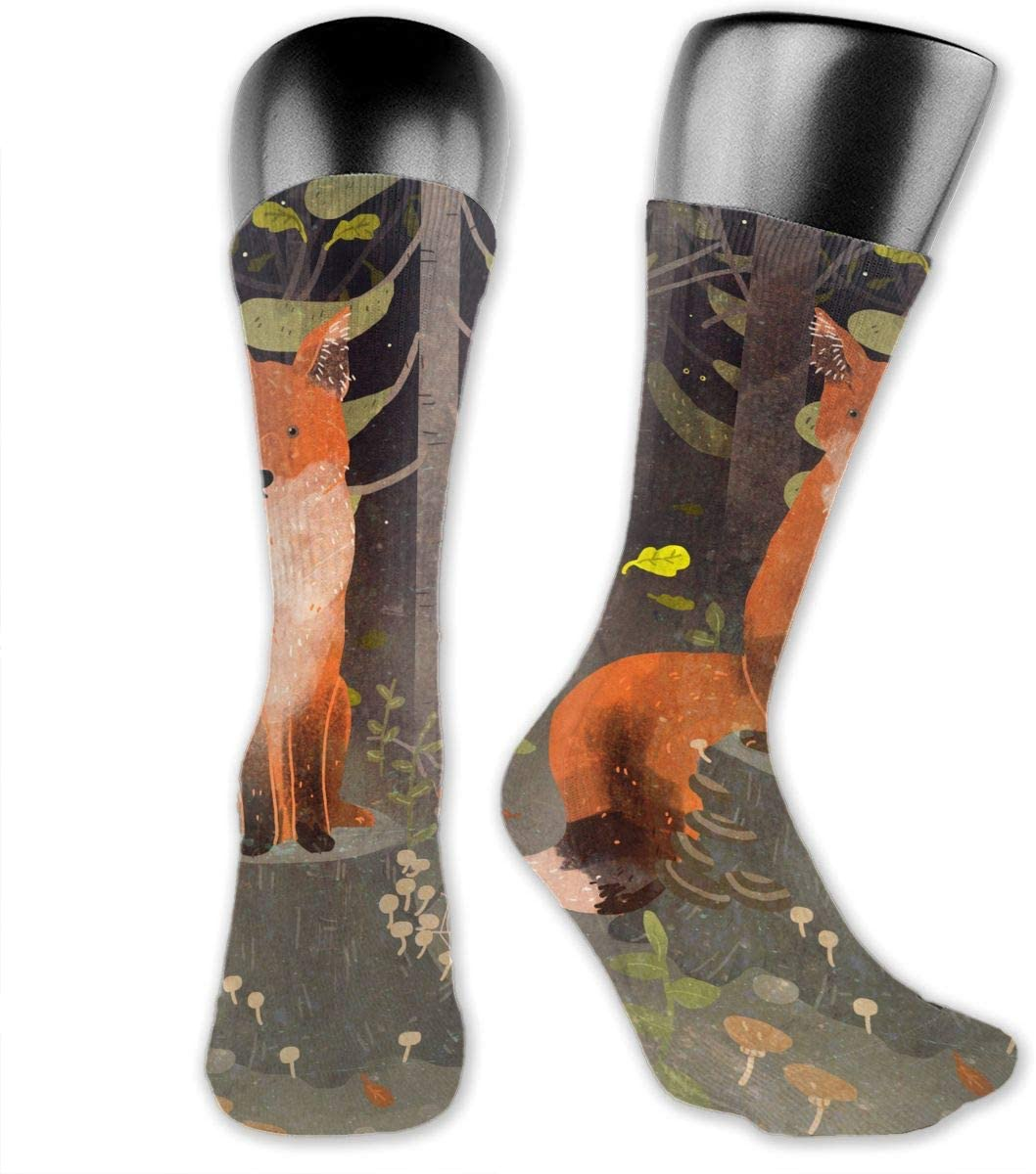 OLGCZM Cute Fox Forest Men Womens Thin High Ankle Casual Socks Fit Outdoor Hiking Trail