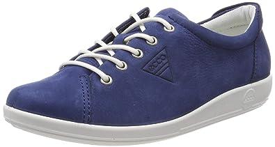 bac1aad076 Amazon.com | ECCO Women's Soft 2.0 Low-Top Sneakers, (True Navy 2048 ...