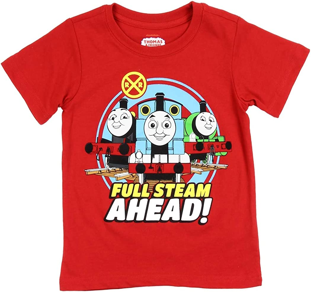 Boys Red T Shirt with Train detail