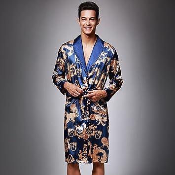 Männer-Eis-Silk Abendkleider Startseite Kleidung Imitation Silk ...