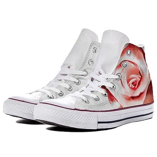 Sneaker Converse All Star Chuck Taylor Hi - Zapatillas de Lona para Hombre Blanco Bianco Blanco Size: 38 EU: Amazon.es: Zapatos y complementos