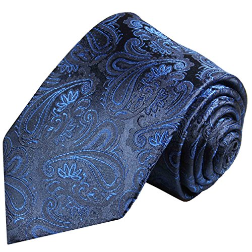 Necktie 100% Silk Navy Blue (Navy Blue Silk Necktie)