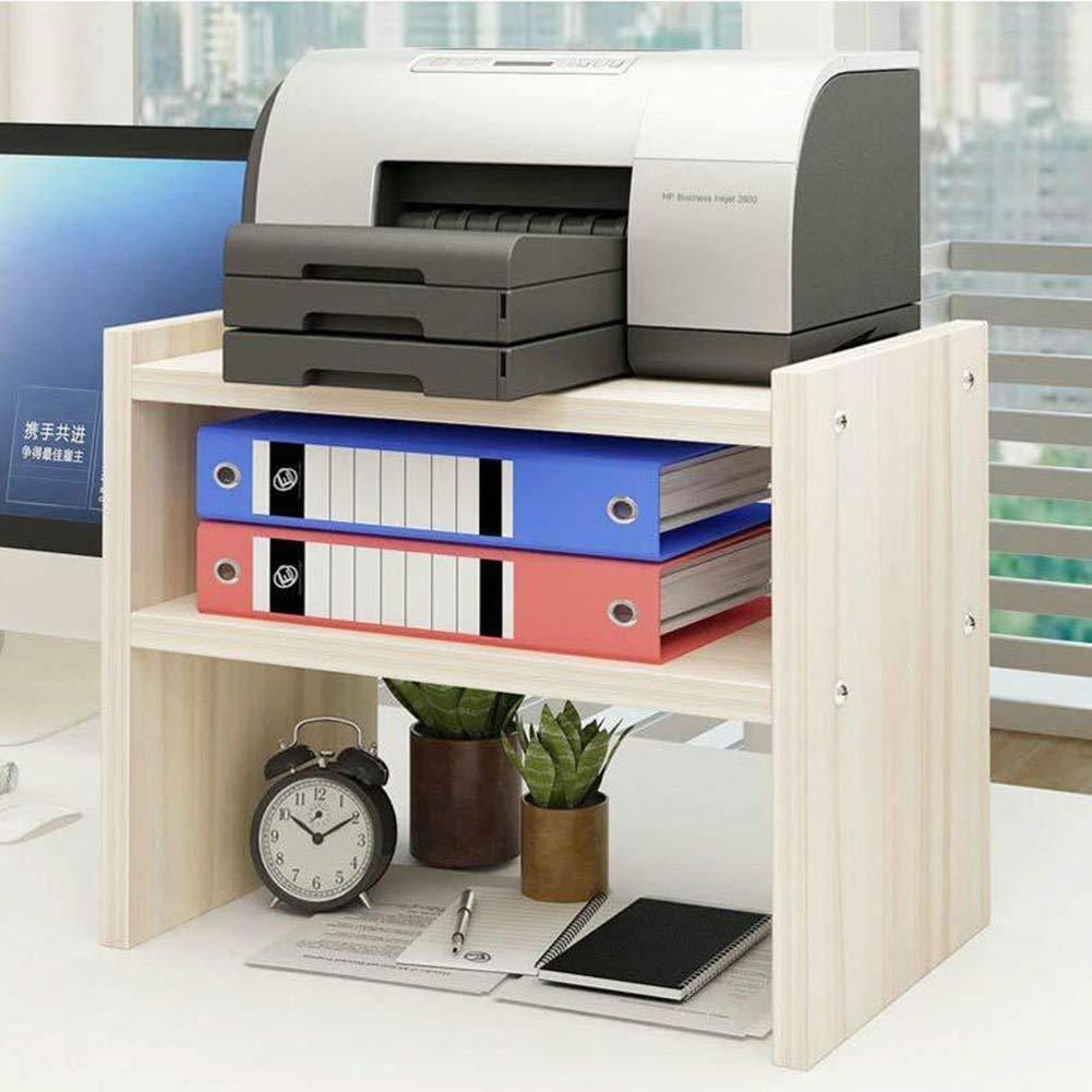 Bookcases Rack Printer Shelf Desk Rack Desktop pin Table Double Storage File to Put The Printer Shelf L Yixin (Color : A, Size : 50cm)