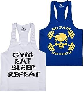 15029c7808873 YSENTO Mens Dri Fit Stringer Tank Top Gym Workout Racerback Sleeveless  Shirt Bodybuilding Y Back Tanks