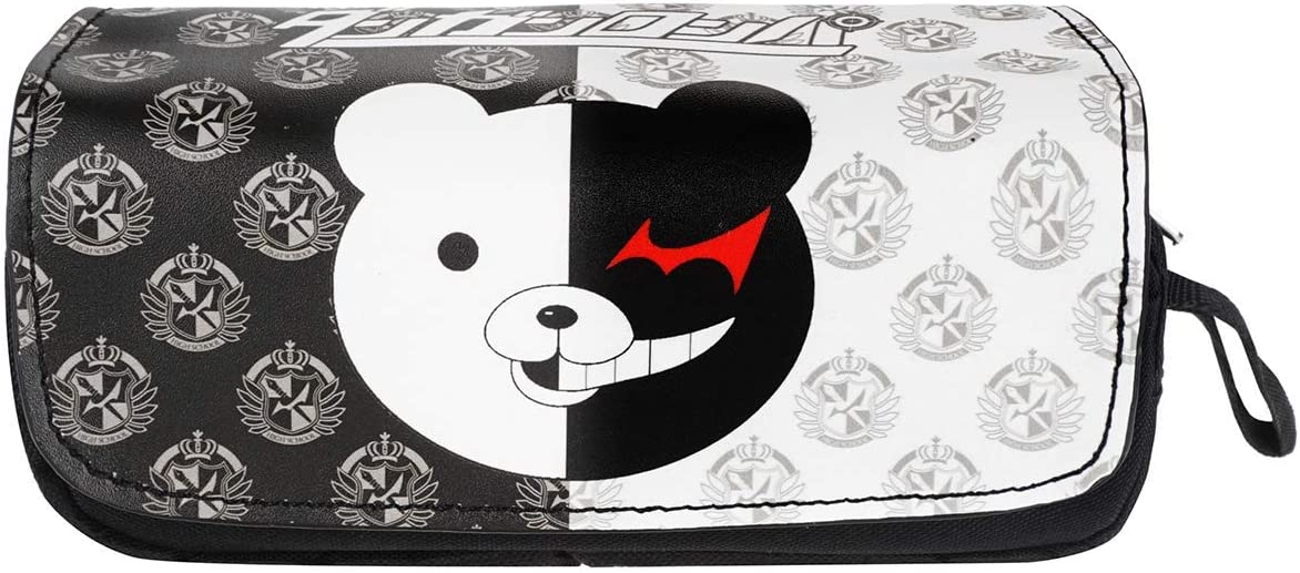 Large Anime Character Print Pencil Case for Office School Students