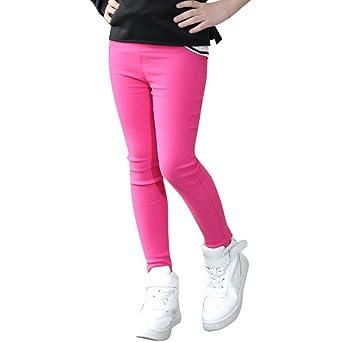 db4c0a0de39 De feuilles Cute Kids Baby Girls Ankle Length Basic Leggings Tight Pants  Childrens Summer Trousers Pencil Pants  Amazon.co.uk  Clothing
