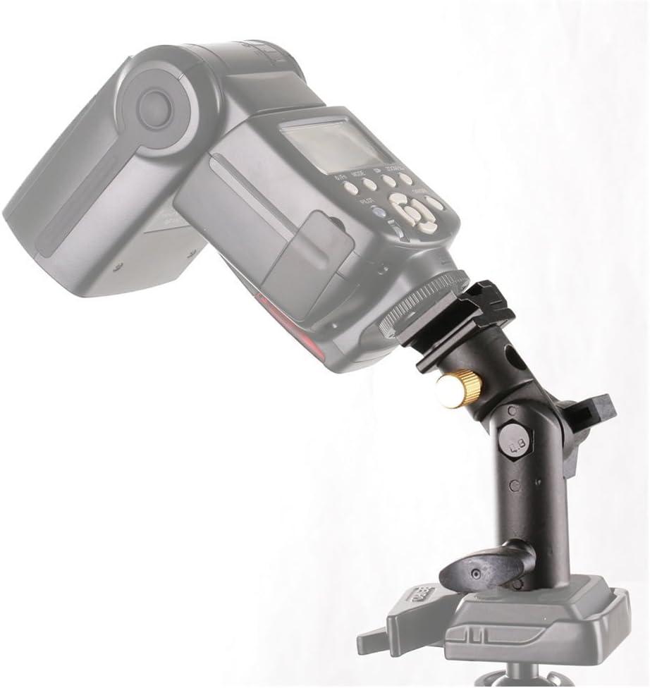Fotga 2 Pack Camera Flash Speedlite Mount Swivel Light Stand Bracket with Umbrella Reflector Holder for Camera DSLR Nikon Canon Pentax Olympus DSLR Flashes Studio Light LED Light