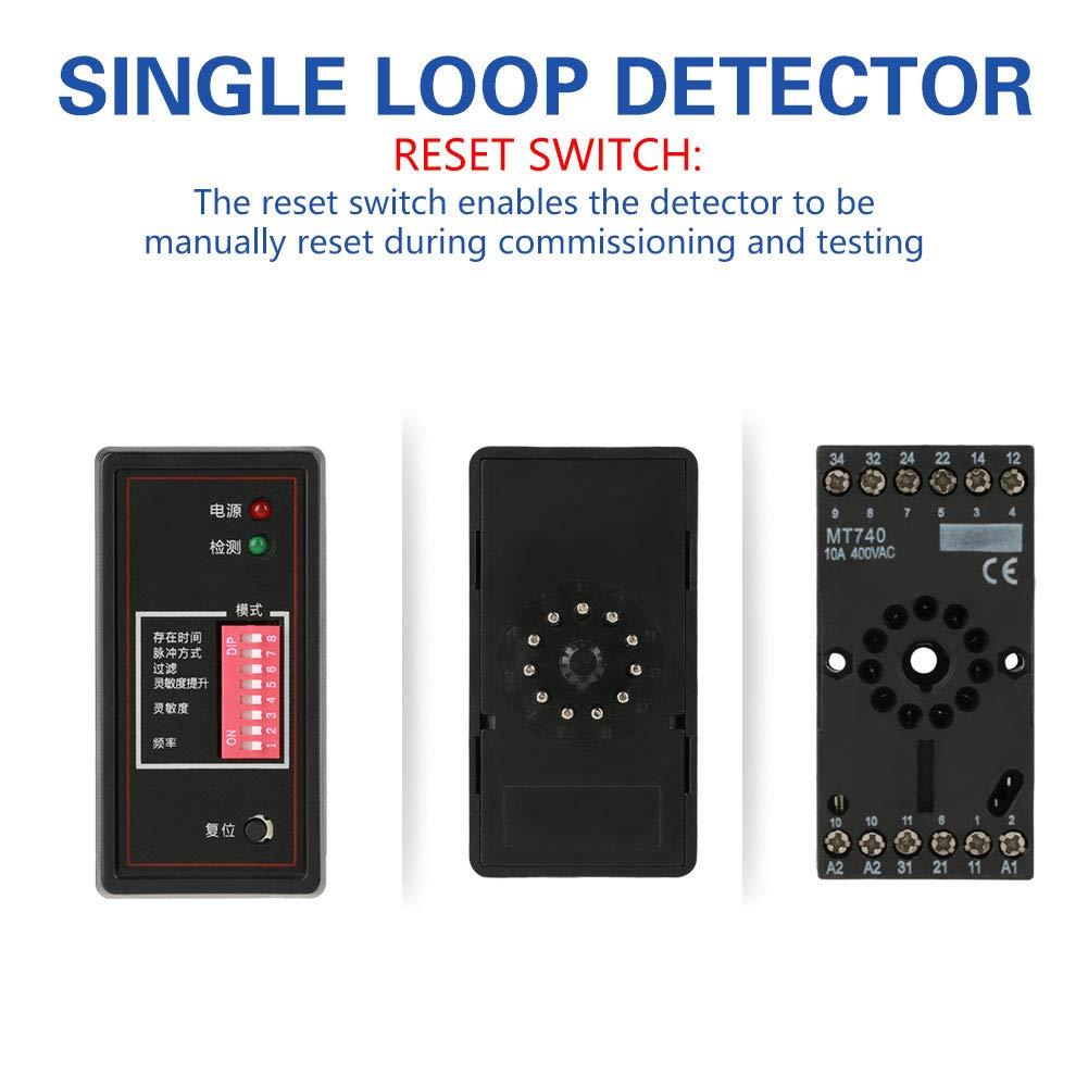 Fahrzeug-Schleifen-Detektor Asixx PD132 Induktiver Fahrzeugschleifendetektor f/ür Auto-Parkplatz Versorgungsspannung 220VAC