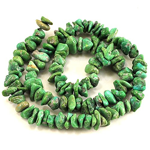 01 Green Hubei Turquoise Chips 5-10mm for Necklace Gemstone Loose Beads 15