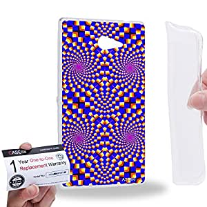 Case88 [Sony Xperia M2] Gel TPU Carcasa/Funda & Tarjeta de garantía - Art Fashion Visual Art Effect 29 1045