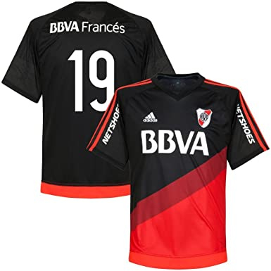 Adidas River Plate Away Camiseta 2015 2015 + No 19 (Fan Style), Hombre