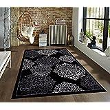 776 Black Gray Grey 8x10 Area Rugs Carpet