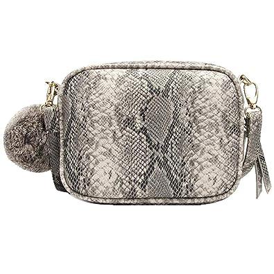 Amazon.com: ZLMBAGUS - Bolso pequeño para mujer, diseño de ...