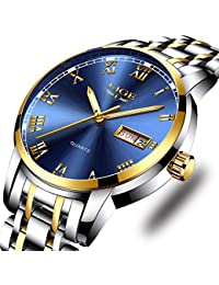 Watches,Mens Full Stainless Steel Luminous Quartz Watch Fashion Casual Business Dress Wristwatch Waterproof 30M...