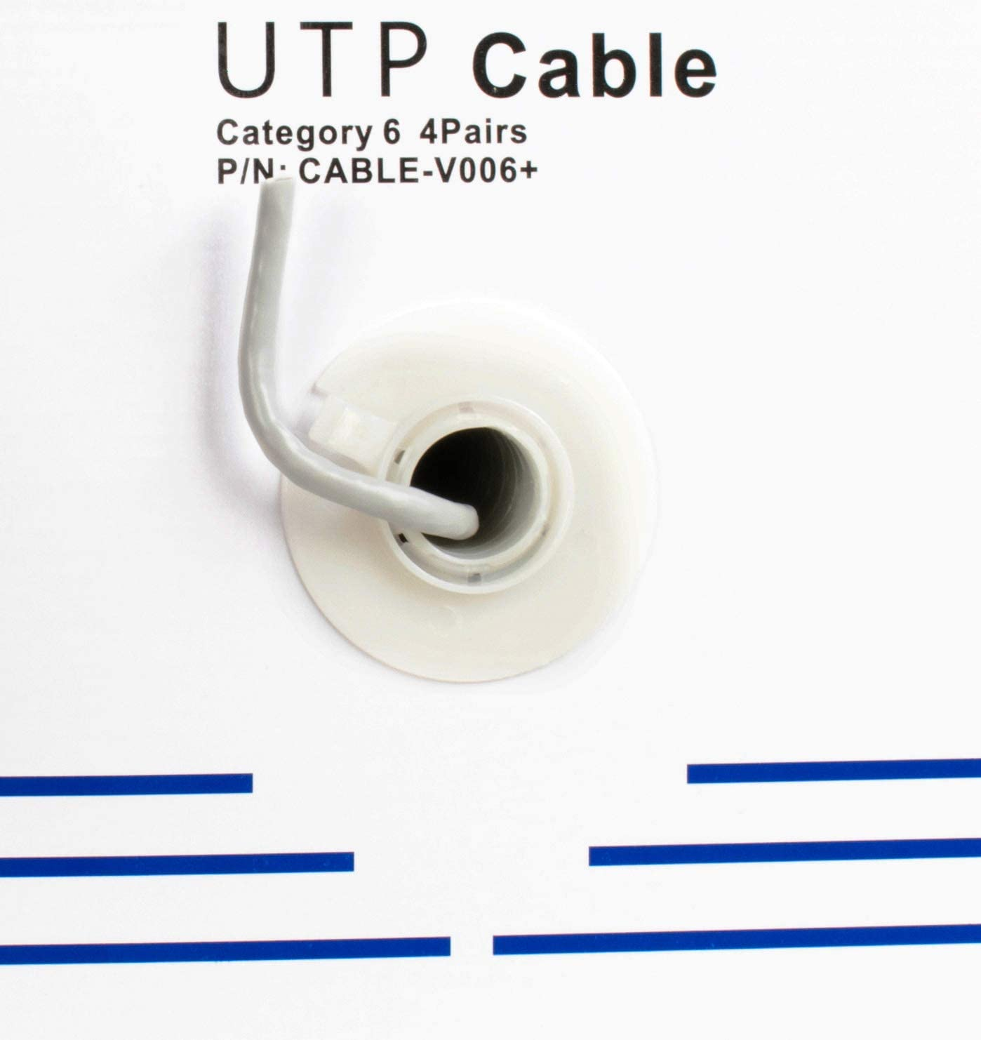 UTP Pull Box 23 AWG Network Installations Cat-6 Wire CABLE-V006 VIVO Gray 500ft Bulk Cat6 CCA Ethernet Cable Indoor