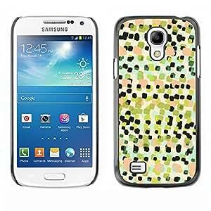 TopCaseStore / la caja del caucho duro de la cubierta de protección de la piel - Art Pattern Painting Squares - Samsung Galaxy S4 Mini i9190 MINI VERSION!