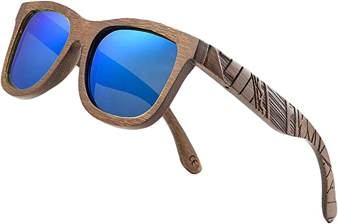 Amazon.com: Gafas de sol polarizadas de madera de bambú para ...