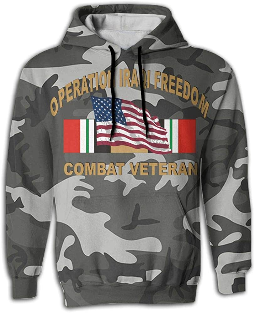 SNOWSOFT Operation Iraqi Freedom Combat Veteran Unisex 3D Printed Pullover Hoodie Hooded Sweatshirt