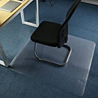 Office Anti-Slip Chair PVC Mat for Hard Floor Protection No BPA Durable Structure Sound Absorbent Crack and Scratch-resistant