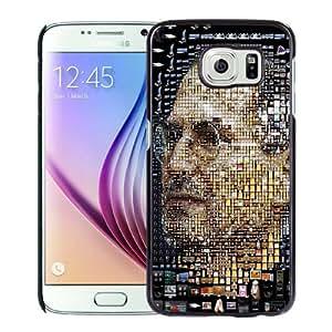 Beautiful Unique Designed Samsung Galaxy S6 Phone Case With Steve Jobs Apple Products Portrait_Black Phone Case
