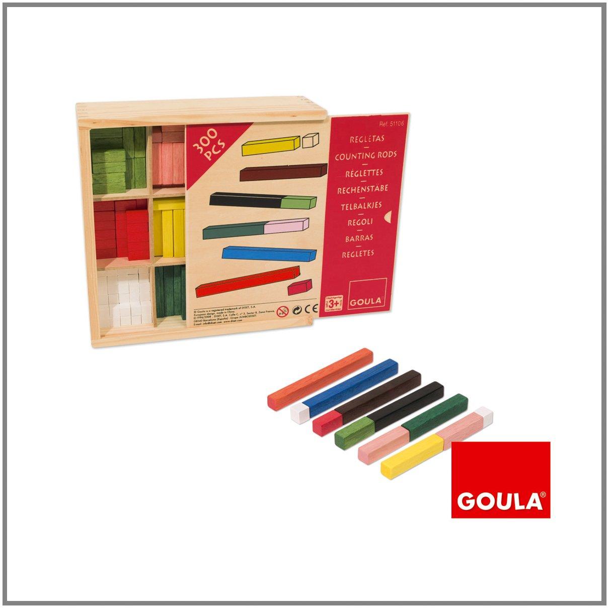 Goula - D51106 - Rechenstäbe 10 x 10 Spiel in der Holzbox