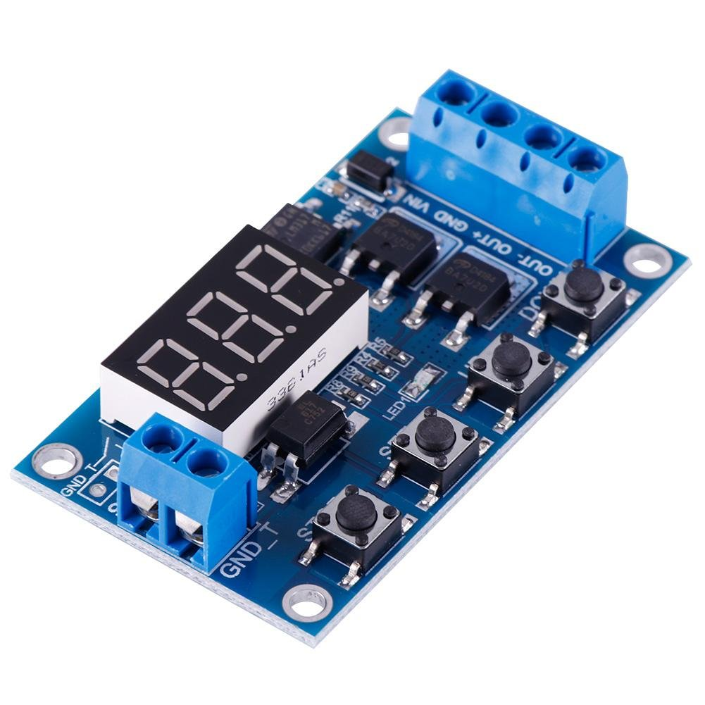 Eachbid 24v Trigger Cycle Timer Delay Switch Circuit Board Mos Tube 555 Remote Control Jammer Module 12 Home Improvement