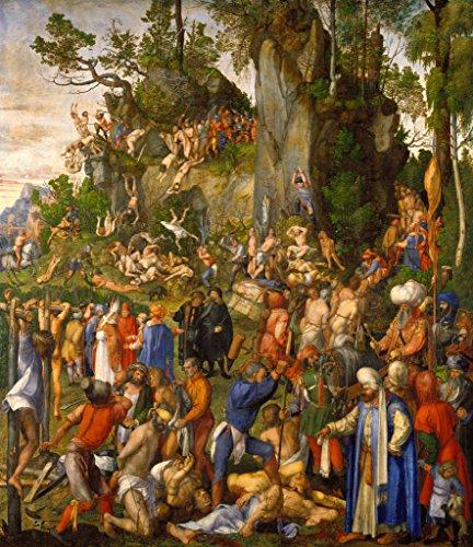 kunst für alle Art Print/Poster: Albrecht Dürer The Martyrdom of 10 000 Christians Picture, Fine Art Poster, 23.6x27.6 inch / 60x70 cm