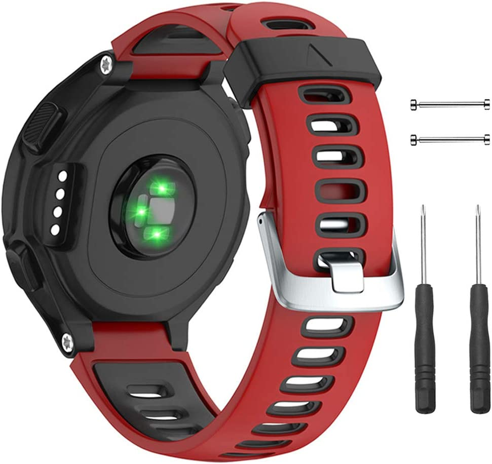 Replacement Band  Solft Silicone Strap Compatible Forerunner 230// 220// 235// 620