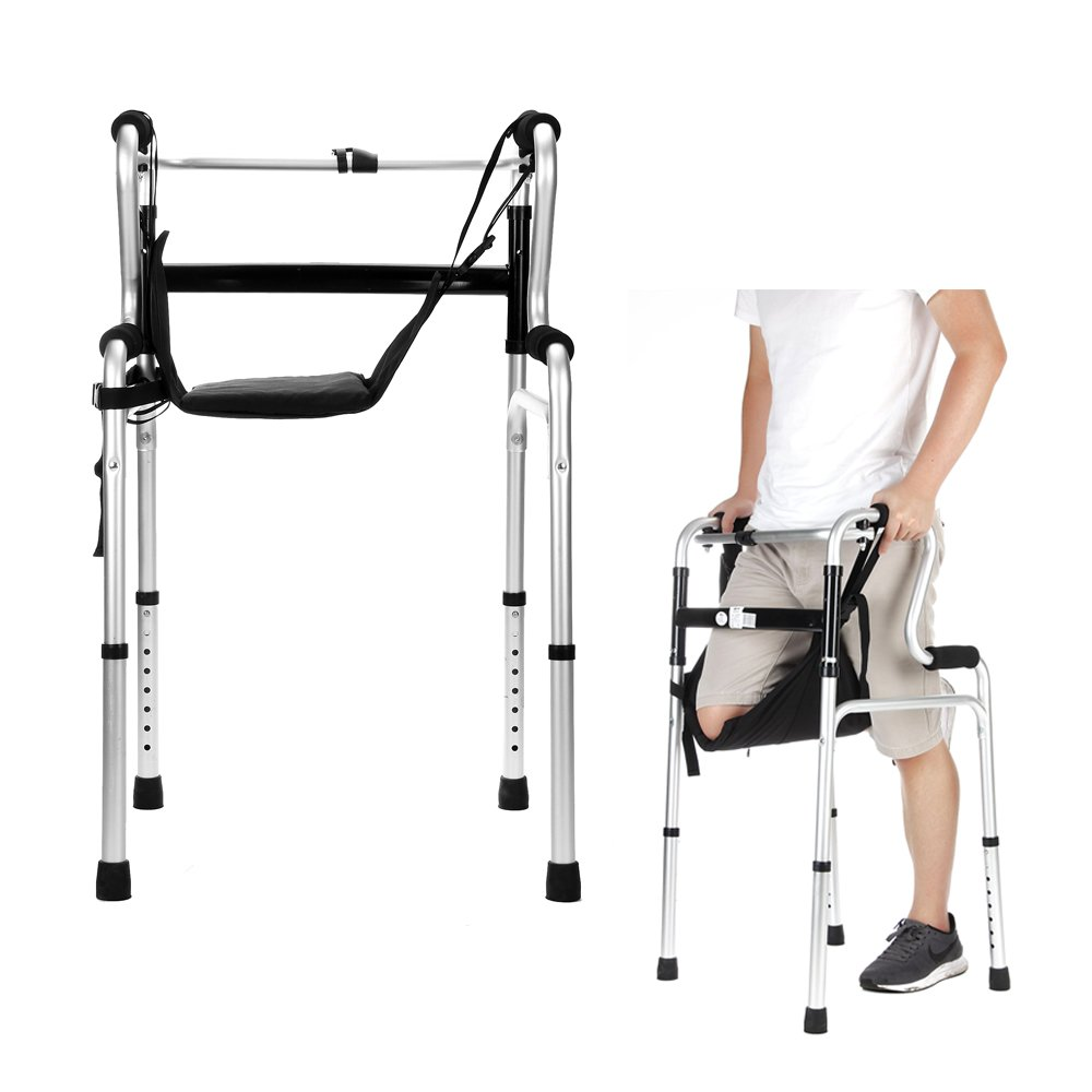 Knee Walker Medical Lift Sling Patient Safety Hanging Knee Support Cushion Pads Adaptive Utensils Lifts Leg for Elderly, Senior (Black)