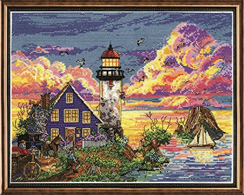 Design Works Lighthouse Sunset Counted Cross Stitch Kit