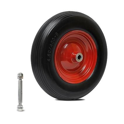 Forever Speed 4.00-8 PU Carretilla de rueda a prueba de perforaciones de la rueda