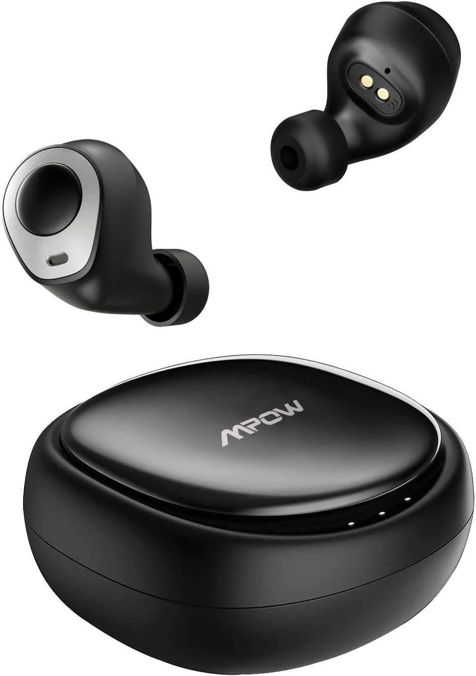 Mpow Auriculares Bluetooth, Auriculares Inalámbrico 5.0, Auriculares Deportivos IPX7 Impermeable, 25H Caja de Carga, Mini Twins Sonido HD Estéreo con CVC 8.0 Cancalación de Ruido para iOS y Android