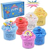 Cutiecute 6 Pack Butter Slime Kit,Super Soft & Non-Sticky, Stress Relief Toy Scented Sludge Toy for Kids Education, Party Favor, Gift and Birthday(6 Pack 100ml*6) (B)
