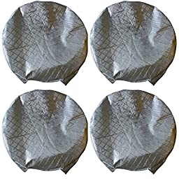 A.B Crew Set of 4 Weatherproof Wheel Tire Covers for Car RV Auto Truck Aluminum Film Tire Sun Protectors to 27\