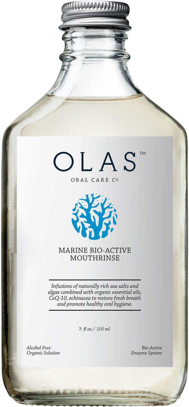 OLAS Alcohol-Free Mouthwash with Marine Bio-Active Complex, Travel Size 3fl.oz