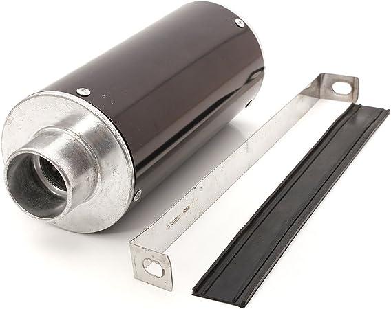 Audew Auspuff Schalldämpfer Auspuff Schalldämpfer Schalldämpfer Montage Für Motorrad Roller Aluminium 28 Mm Auto