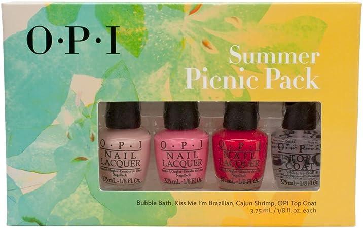 OPI Nail Polish Summer Picnic Pack 4pc Mini Set by OPI: Amazon.es ...