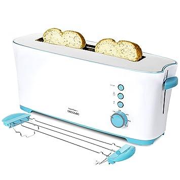 Cecotec Tostadora Toast&Taste 1L Con capacidad para dos tostadas, Ranura XL, 1000 W de