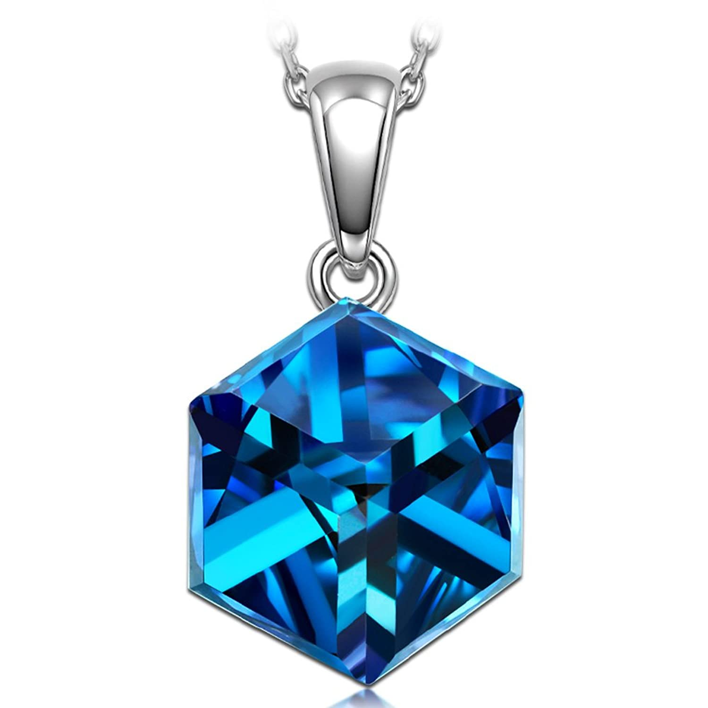 NINASUN Te Engancho Plata Joyeria Mujer Fabricados con Cristales SWAROVSKI®