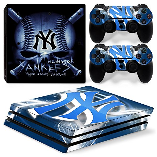 GoldenDeal PS4 Pro Skin and DualShock 4 Skin - Baseball MLB - PlayStation 4 Pro Vinyl Sticker for Console and Controller (Mlb Skin)