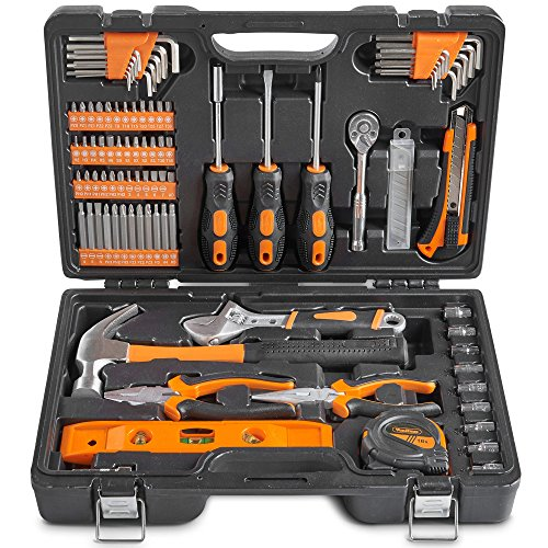 Knife Precision Piece 13 (VonHaus 100 Piece Home Repair Tool Set - General Household Hand Tool Kit with Ratchet Wrench, Screwdriver Set, Socket Kit, Pliers in a Molded Storage Case - Ideal for Home Repair & Maintenance)