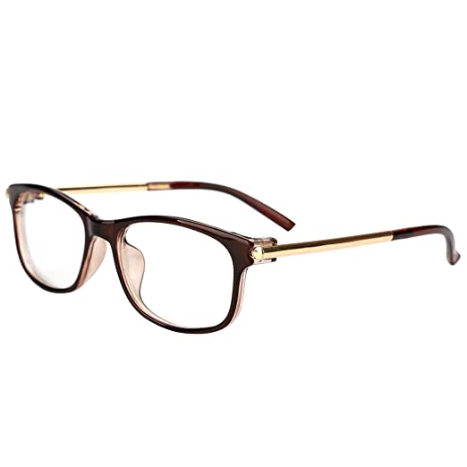 a66f43c671 LIANSAN Unisex Vintage Retro Glasses Non-Prescription Clear Lens Eyewear  L601(Brown)