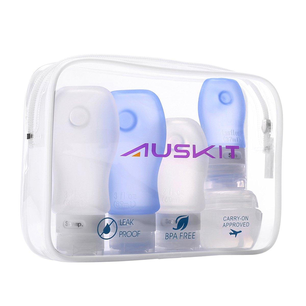 amazon com leak proof travel bottles set 4 refillable tsa