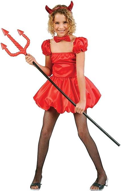 Size 12 Girls Halloween Costumes.Amazon Com Kid S Short Devil Girl Halloween Costume Size Large 12 14 Toys Games