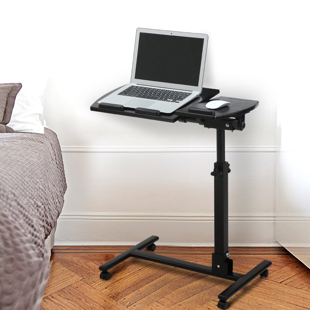 desk tiers awesome small amazon shelf with on wheels printer com stand portable