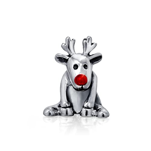 8691eaae0 Christmas Rudolph Red Nose Reindeer Charm Bead For Women For Teens Oxidized  925 Sterling Silver Fits European Bracelet: Amazon.ca: Jewelry