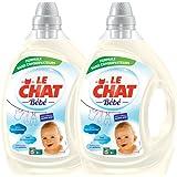 Le Chat Bébé - Lessive Liquide - Lot de 2 x 2,2L - 88 Lavages
