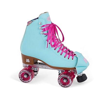 35fbe20a504 Moxi Skates - Beach Bunny - Fashionable Womens Roller Skates | Blue Sky |  Size 1