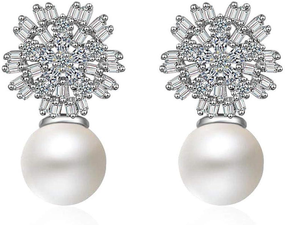 Aretes de perlas japonesas y coreanas aretes de circonita aretes Kdw