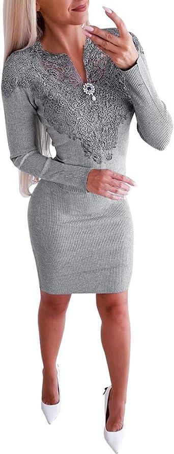 TWISFER Damska Etuikleid Business Kleider Bodycon Cocktailkleid Bleistiftkleid Geschäft Figurbetonte Knielang Kleider Winter Casual Partyabend V-Ausschnitt Paket Hüfte Minikleid: Odzież